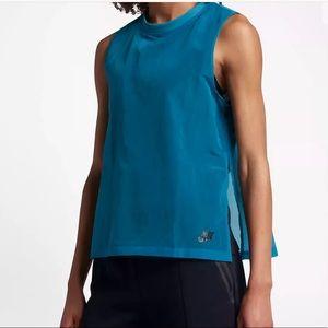 Nike Blue Black Tech Hypermesh Sportswear Tank XL
